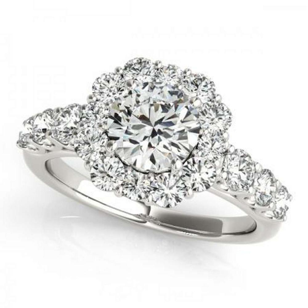 CERTIFIED PLATINUM 2.08 CTW G-H/VS-SI1 DIAMOND HALO ENGAGEMENT RING #PAPPS86234