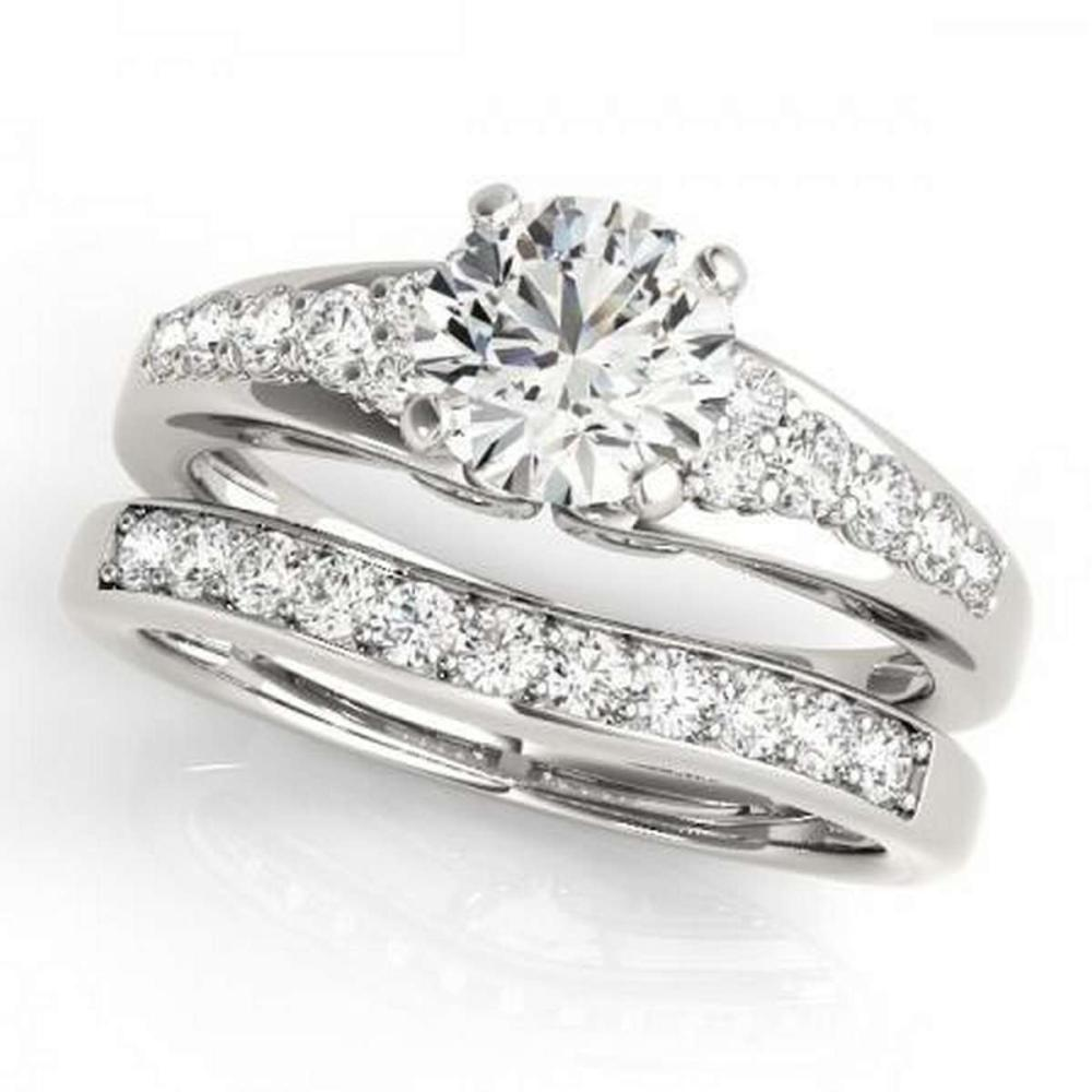 CERTIFIED 18KT WHITE GOLD 1.07 CTW G-H/VS-SI1 DIAMOND BRIDAL SET  #PAPPS86750