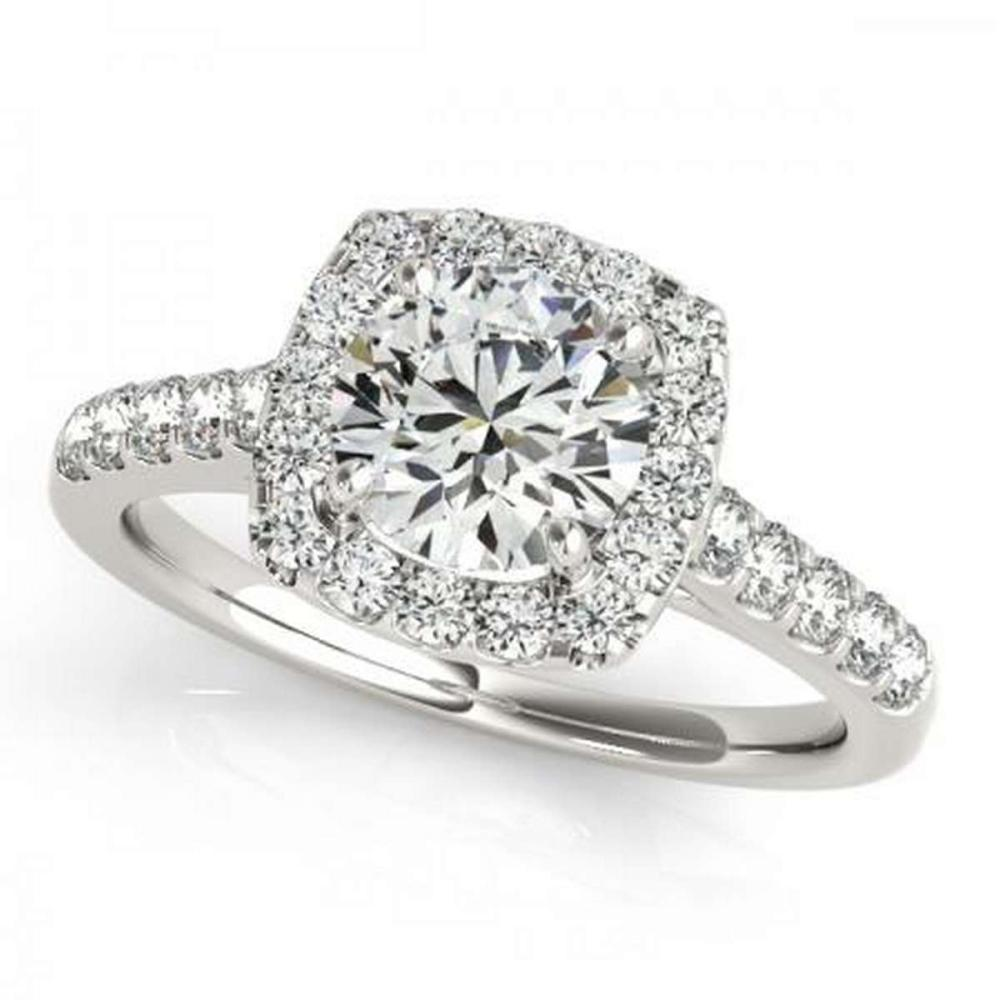 CERTIFIED PLATINUM 1.17 CTW G-H/VS-SI1 DIAMOND HALO ENGAGEMENT RING #PAPPS86232