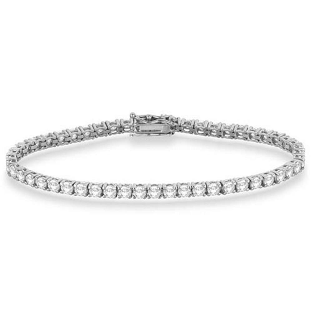 Eternity Diamond Tennis Bracelet 14k White Gold (4.13ct) #PAPPS53914
