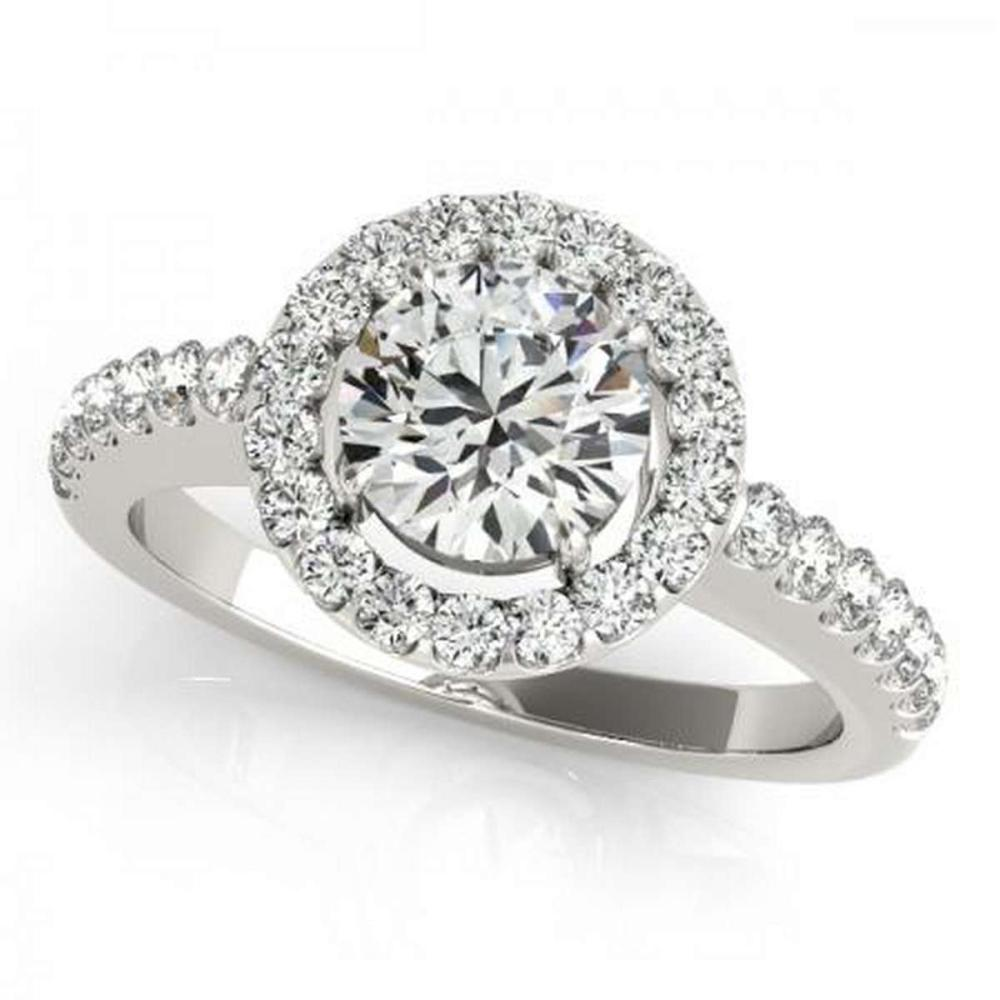 CERTIFIED PLATINUM 1.03 CTW G-H/VS-SI1 DIAMOND HALO ENGAGEMENT RING #PAPPS86219