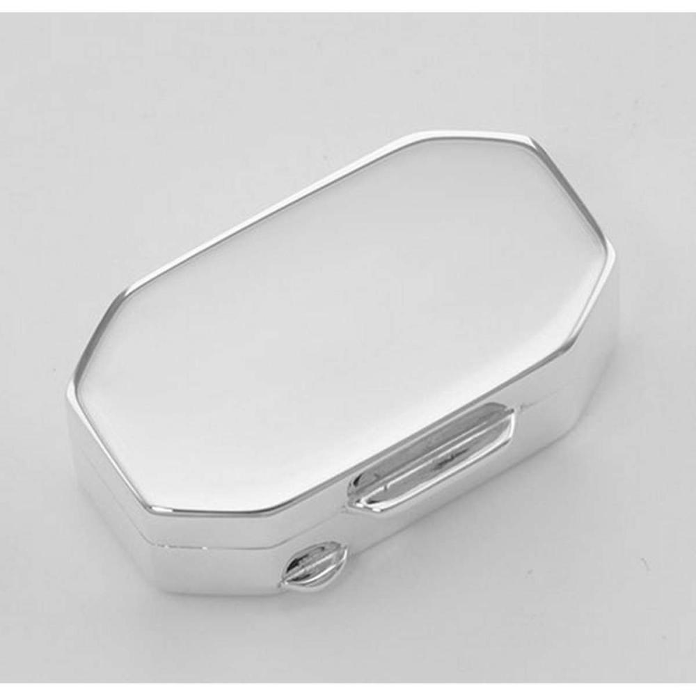 Italian Handmade Elongated Octagon Shaped Sterling Silver Pillbox #PAPPS98373
