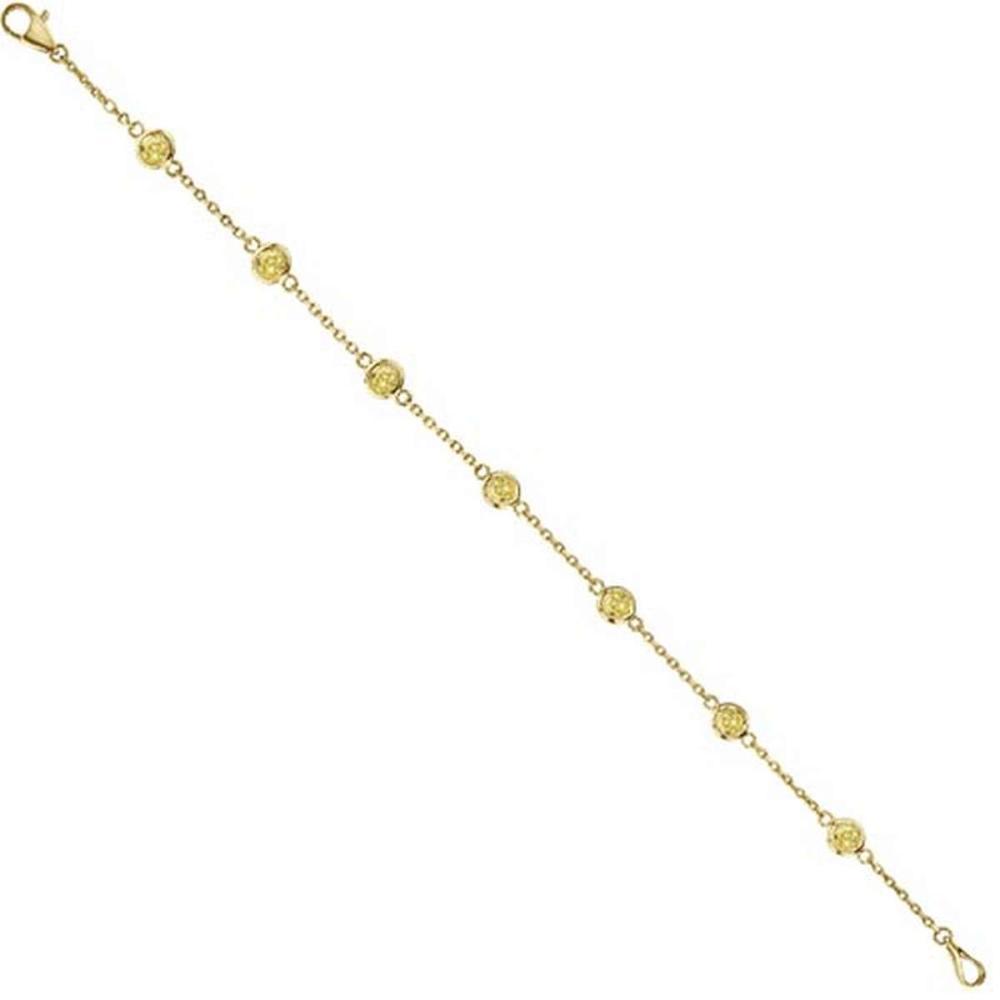 Yellow Diamonds by The Yard Bezel-Set Bracelet 14K Y Gold (0.75ct) #PAPPS53908