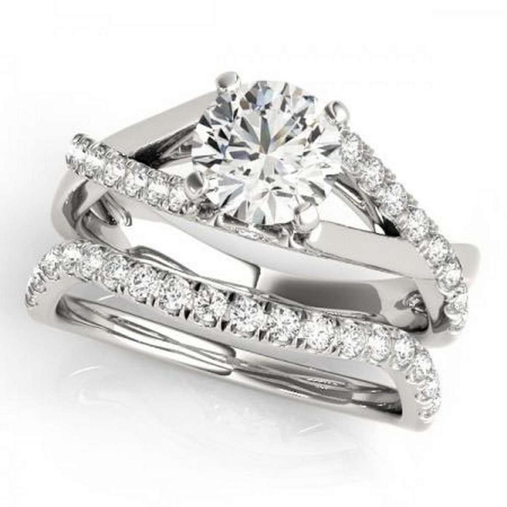 CERTIFIED 18KT WHITE GOLD 1.04 CTW G-H/VS-SI1 DIAMOND BRIDAL SET  #PAPPS86735