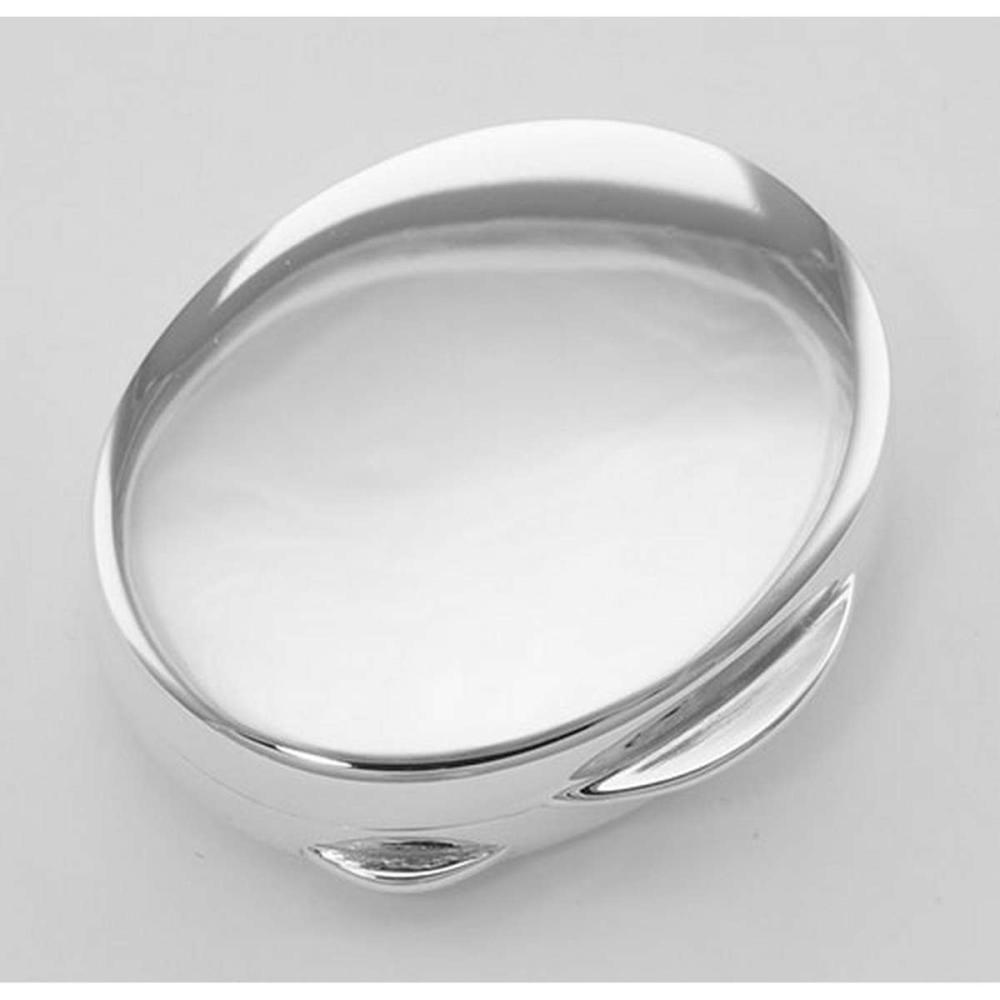 Premium Hand Made Italian Oval Sterling Silver Engravable Pillbox #PAPPS98374