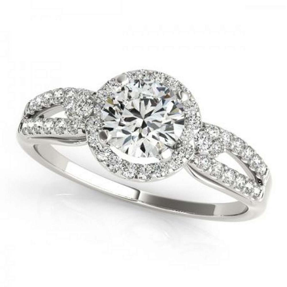 CERTIFIED PLATINUM 1.00 CTW G-H/VS-SI1 DIAMOND HALO ENGAGEMENT RING #PAPPS86223