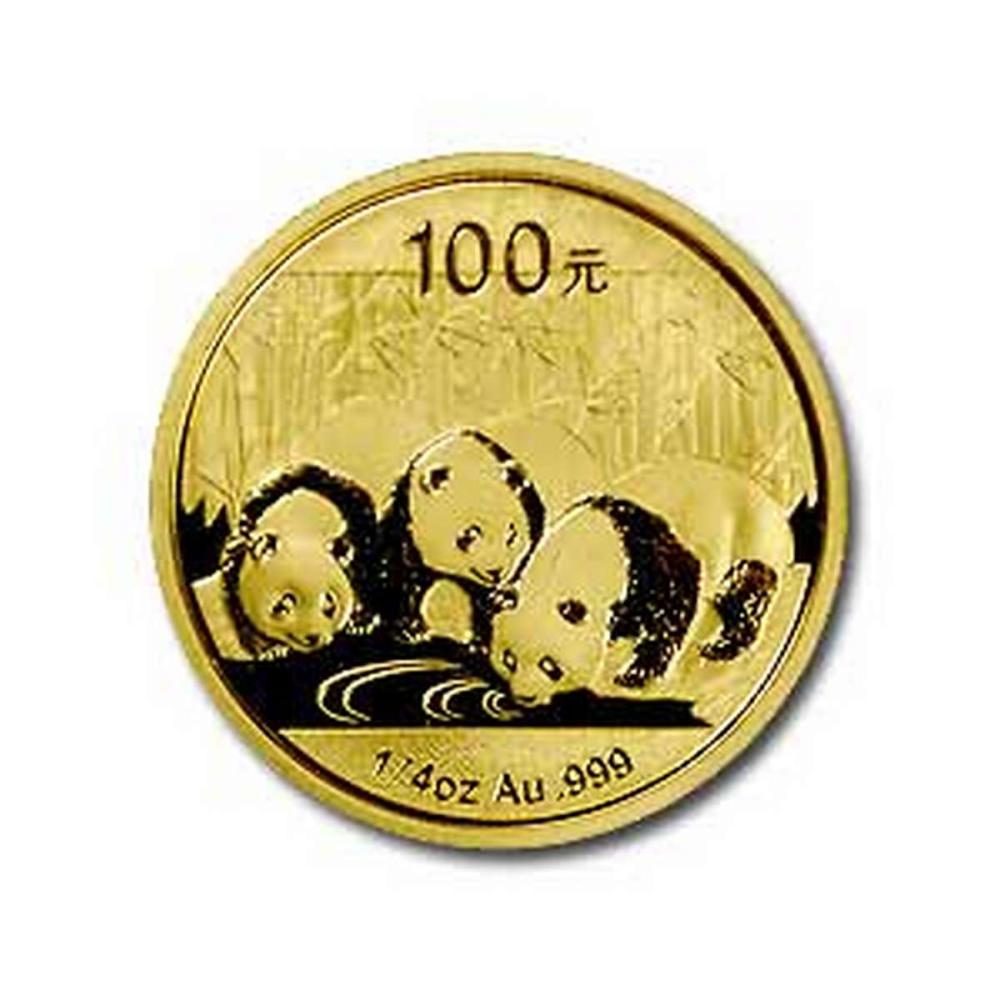 Chinese Gold Panda Quarter Ounce 2013 #PAPPS78291