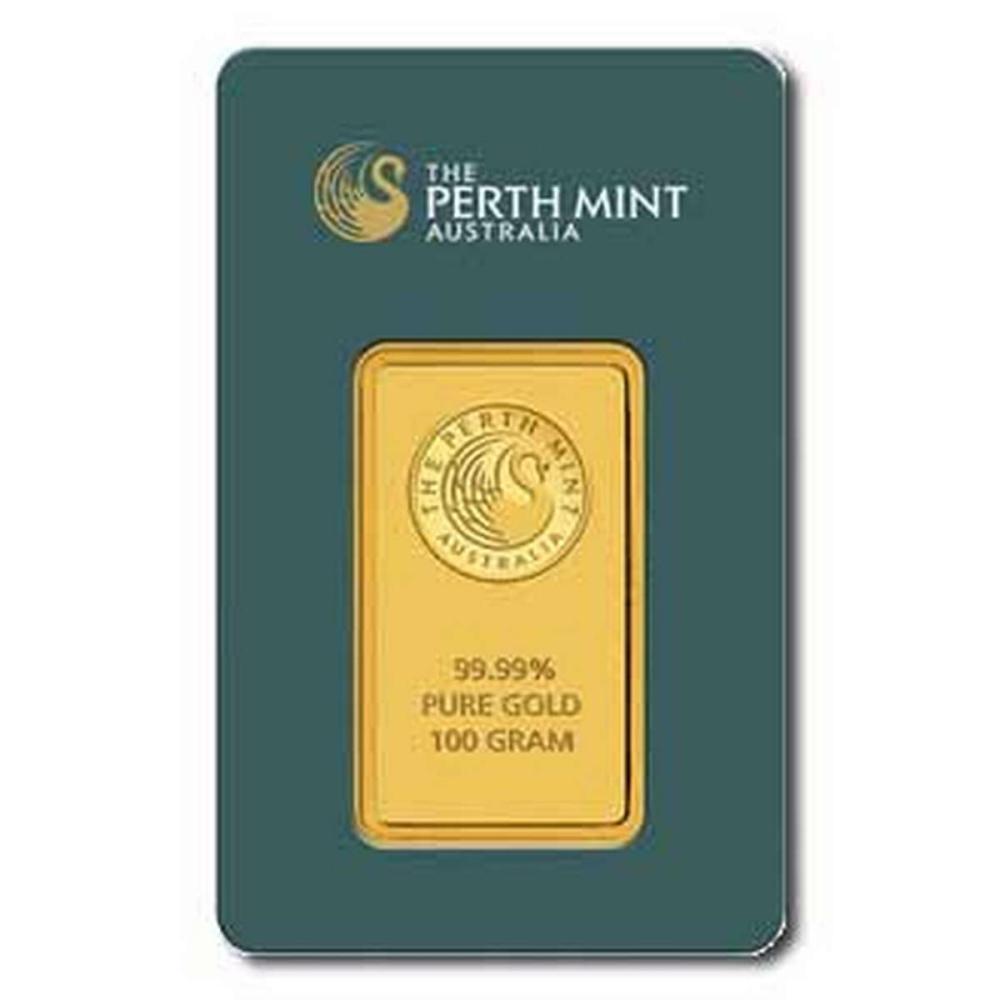 Perth Mint 100 Gram Gold Bar #PAPPS77874