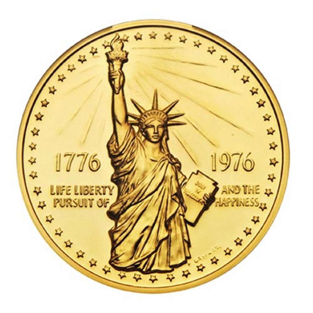 1976 Bicentennial gold Medal 12.8g. PF #PAPPS58348