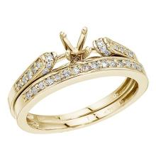 Certified 14K Yellow Gold Bridal Ring Set 0.23 CTW #PAPPS51029