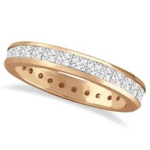 Channel-Set Princess Cut Diamond Eternity Ring 14k Rose Gold (1.56ct) #PAPPS53900