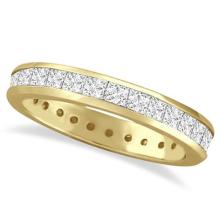Channel-Set Princess Cut Diamond Eternity Ring 14k Y. Gold (1.56ct) #PAPPS53902