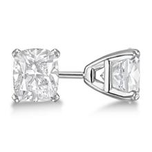 0.75ct. Cushion-Cut Diamond Stud Earrings 14kt White Gold (G-H, VS2-SI1) #PAPPS20881