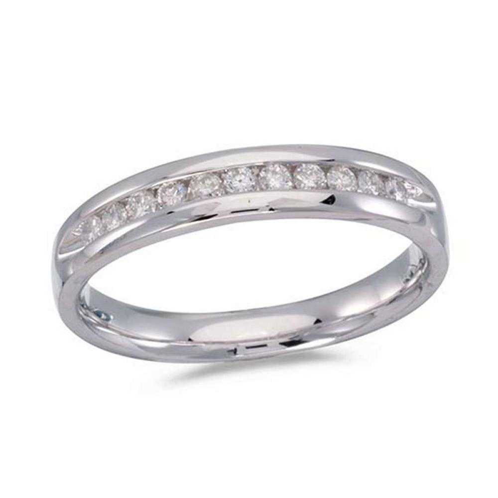 Certified 14K White Gold Diamond Diamond Band Ring #PAPPS51253