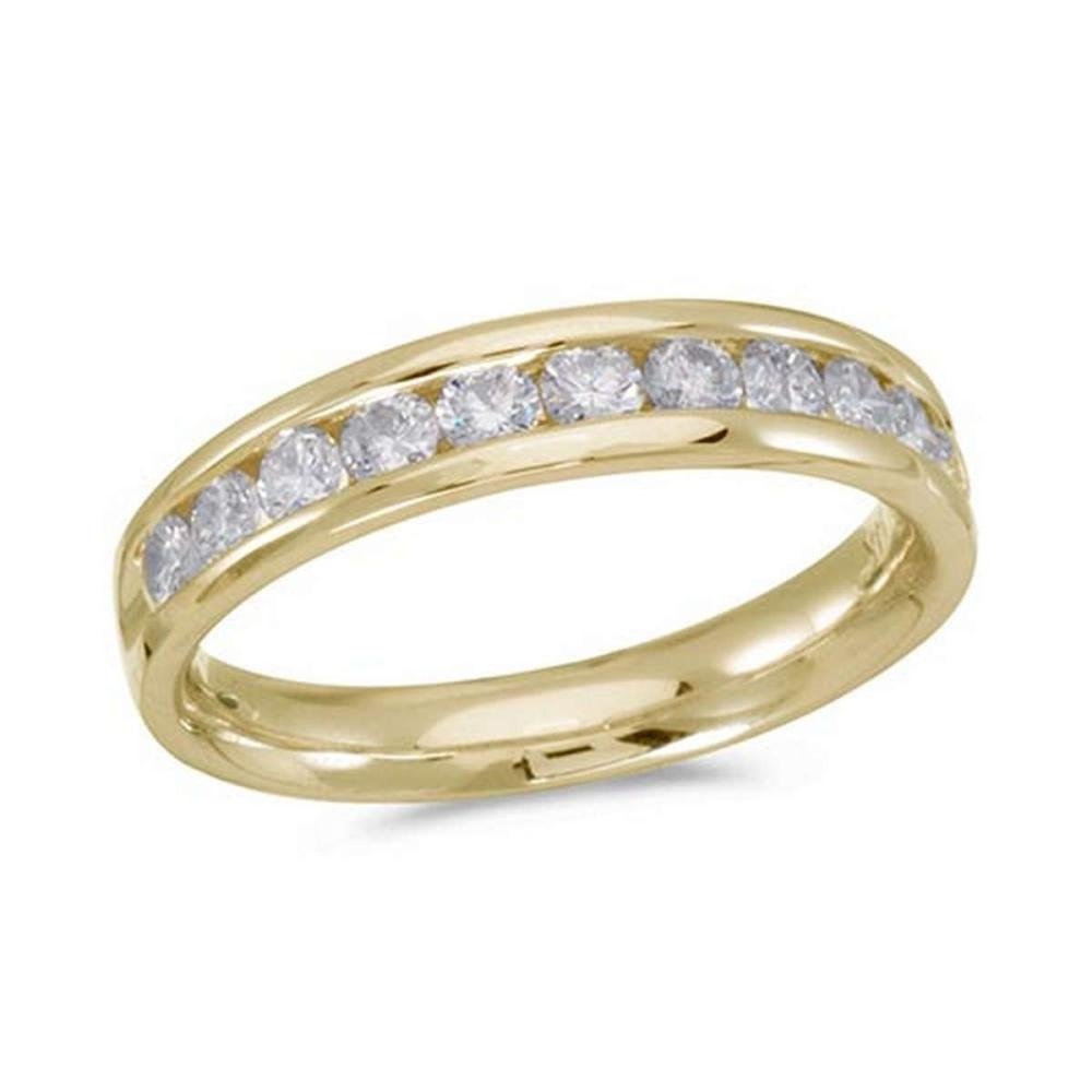Certified 14K Yellow Gold Diamond Diamond Band Ring #PAPPS51235