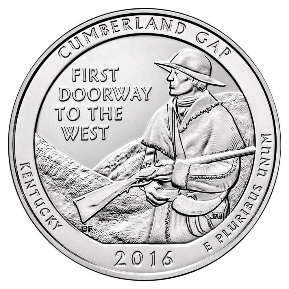 2016 Silver 5oz. Cumberland Gap National Historical Park ATB #PAPPS57945