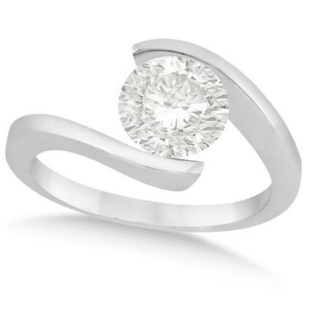 Tension Set Solitaire Diamond Engagement Ring in Platinum 1.00ct #PAPPS20947