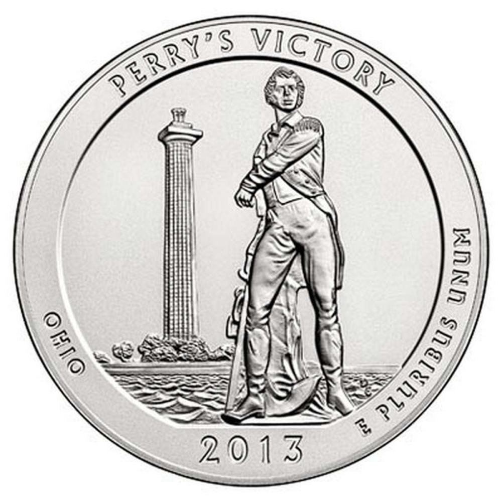 2013 Silver 5oz. Perrys Victory ATB #PAPPS57947