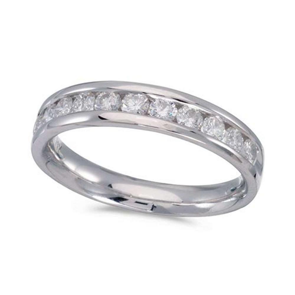 Certified 14K White Gold Diamond Diamond Band Ring #PAPPS51216