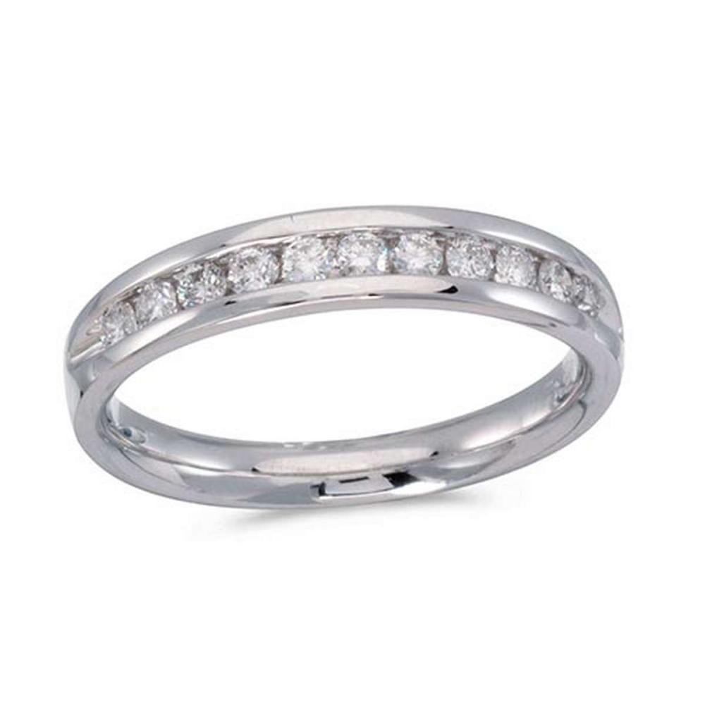 Certified 14K White Gold Diamond Diamond Band Ring #PAPPS51245