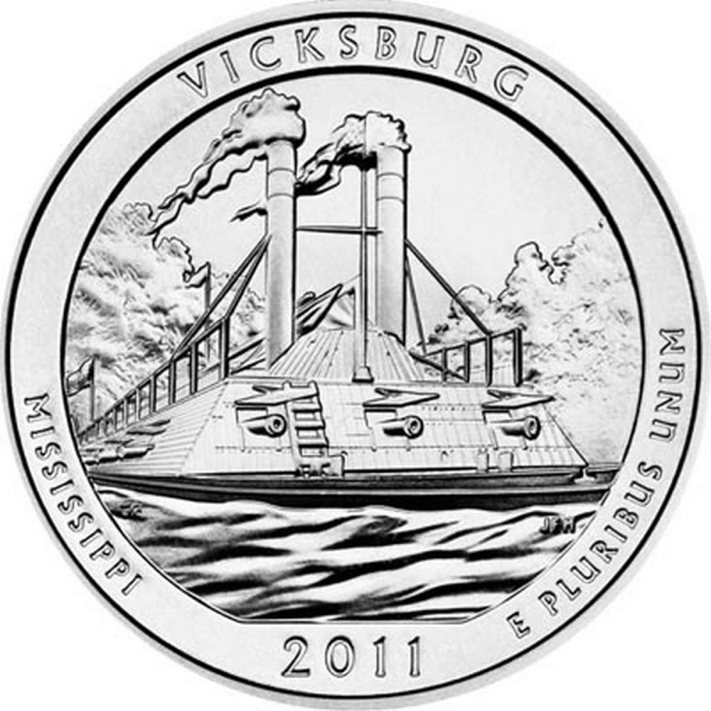2011 Silver 5oz. Vicksburg ATB #PAPPS57946