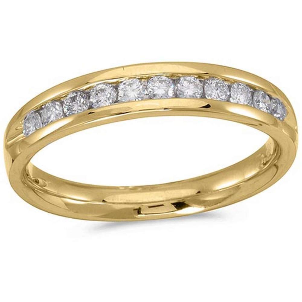 Certified 14K Yellow Gold Diamond Diamond Band Ring #PAPPS51242