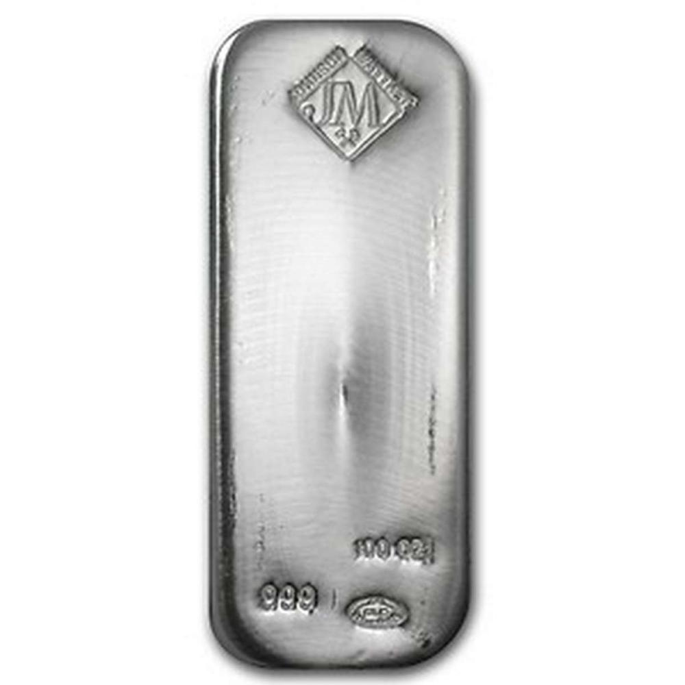 Johnson Matthey Silver Bar 100 oz #PAPPS81474