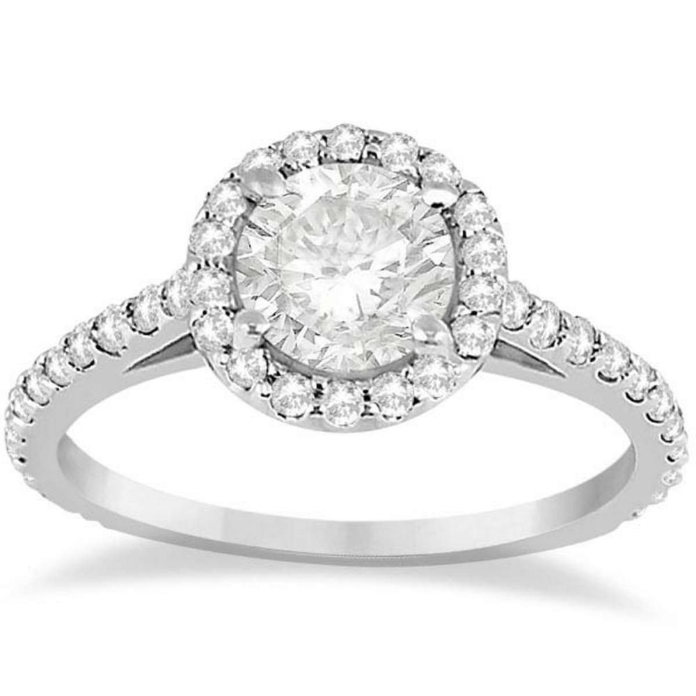 Halo Diamond Cathedral Engagement Ring 14k White Gold (1.44ct) #PAPPS20884