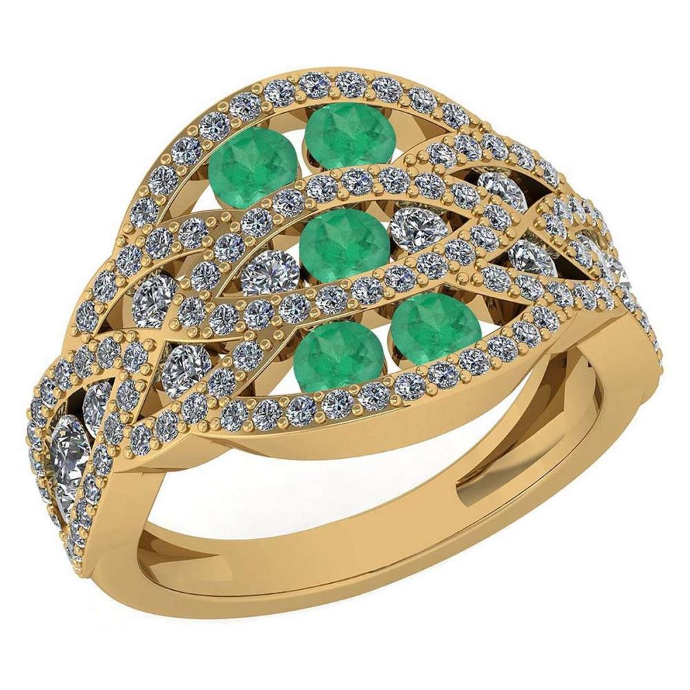 Certified 1.61 Ctw Emerald And Diamond Wedding/Engagement ... - photo#42
