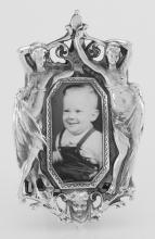 Vintage Art Nouveau Style Mini Picture Frame in Fine Sterling Silver #97877v2