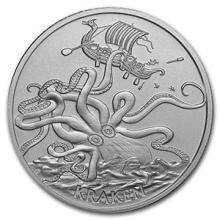 1 oz Silver Round - Kraken #74551v3
