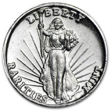 1 oz Silver Round - Rarities Mint High Relief #74596v3