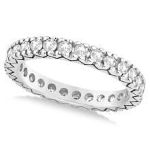 Women's Pave Set Diamond Eternity Wedding Band in Platinum 0.45ct #83385v3