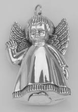 Antique Style Precious Angel Ornament in Fine Sterling Silver #97766v2