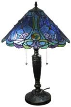 TIFFANY STYLE BLUE TABLE LAMP 24 INCHES TALL #99527v2