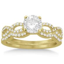 Infinity Twisted Diamond Matching Bridal Set in 14K Yellow Gold (0.34ct) #21256v3