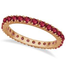 Ruby Eternity Band Stackable Ring 14K Rose Gold (0.50ct) #21224v3