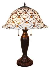 TIFFANY STYLE AM026TL18 JEWELED 26 INCHES TABLE LAMP WHITE #99551v2