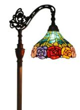 TIFFANY STYLE 62-INCH ROSES READING FLOOR LAMP #99580v2