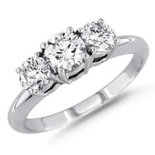 CERTIFIED .95 CTW DIAMOND 18K WHITE GOLD RING (VS2-SI1/G-H) #84943v3