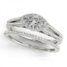 CERTIFIED PLATINUM 1.25 CTW (G-H/VS-SI1) DIAMOND HALO BRIDAL SET #85022v3