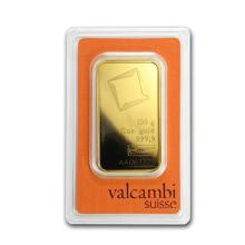 100 gram Gold Bar - Valcambi (Pressed w/Assay) #75209v3