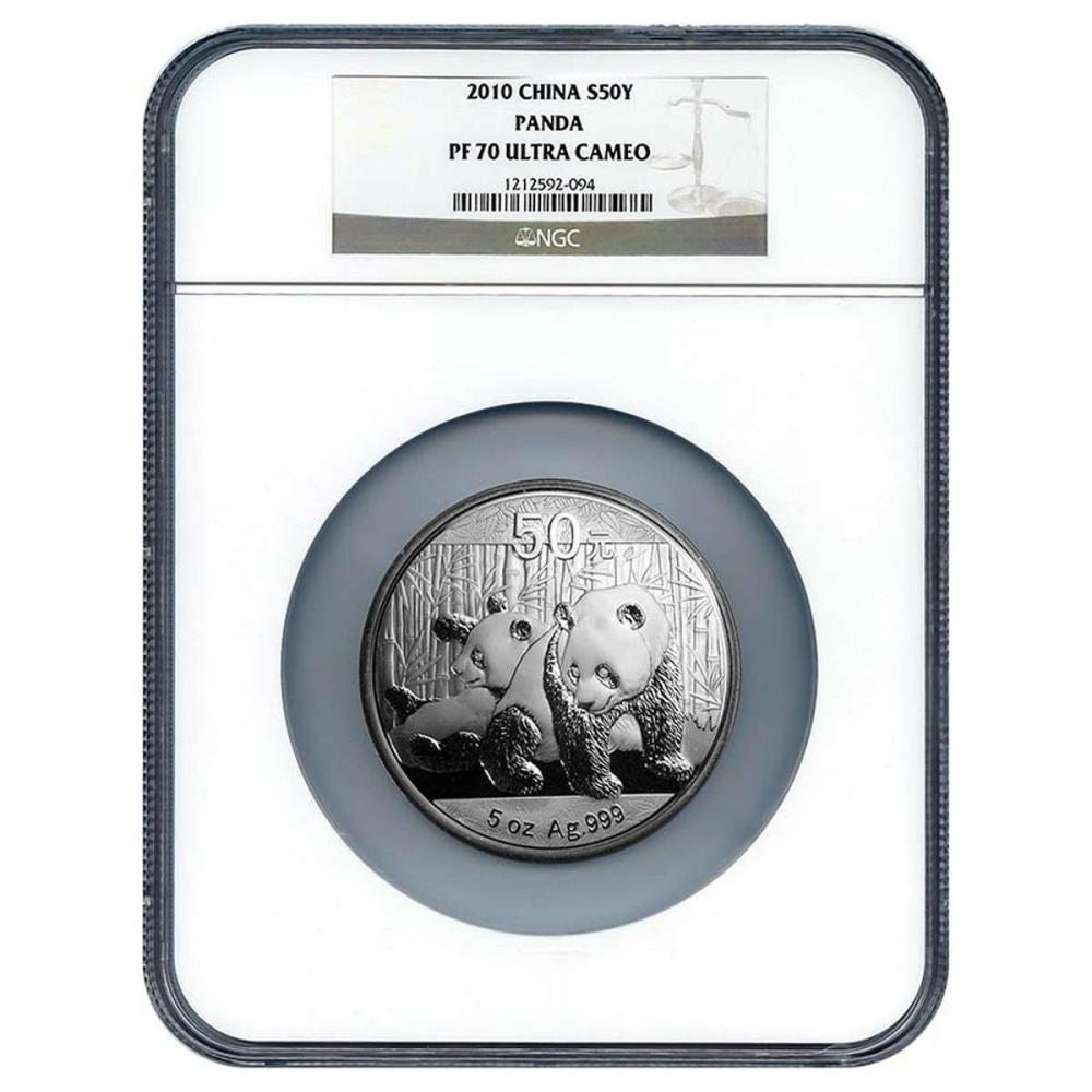 Certified Chinese Panda Five Ounce 2010 PF70 NGC #PAPPS58031