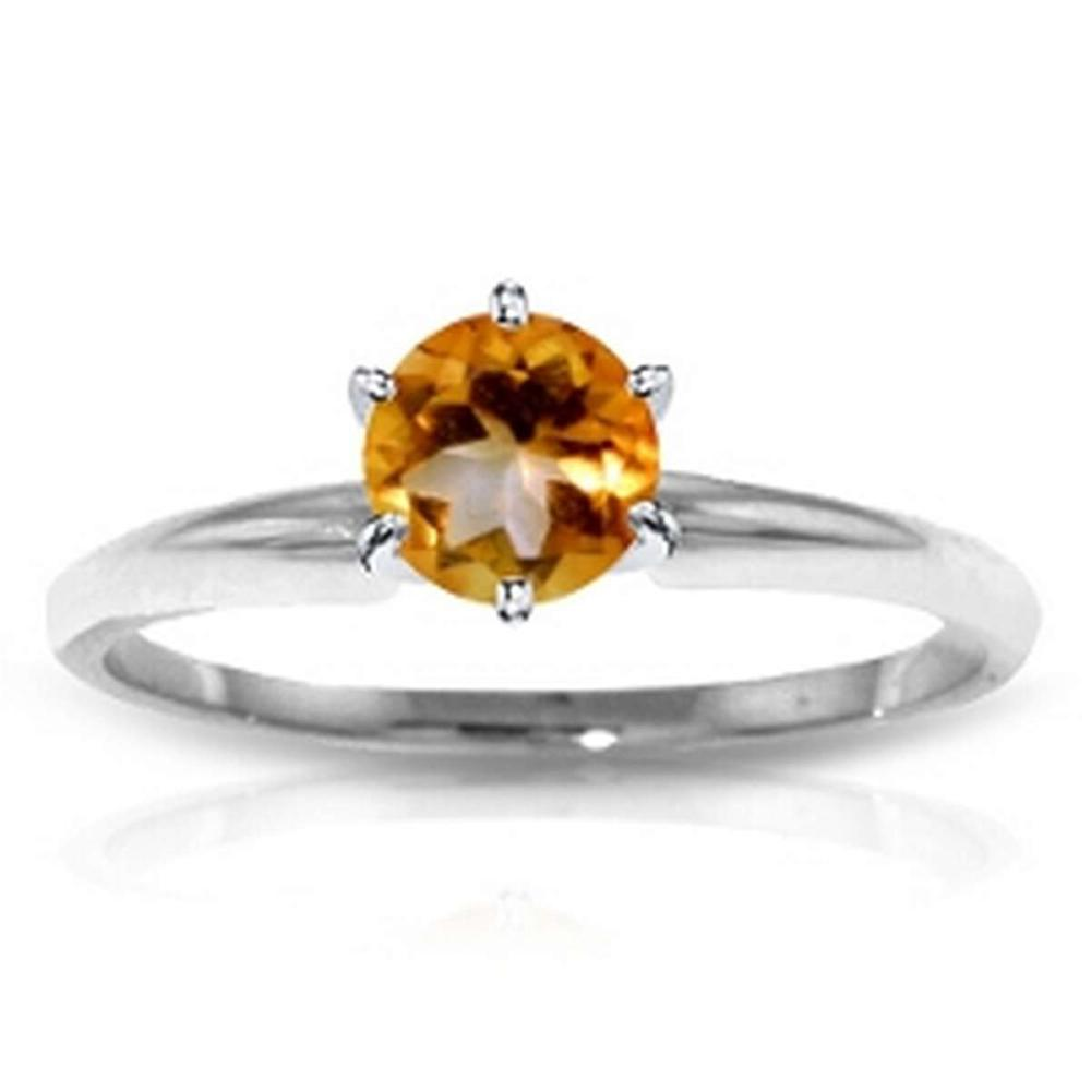 CERTIFIED 14K .55 CTW CITRINE SOLITAIRE RING #PAPPS84609