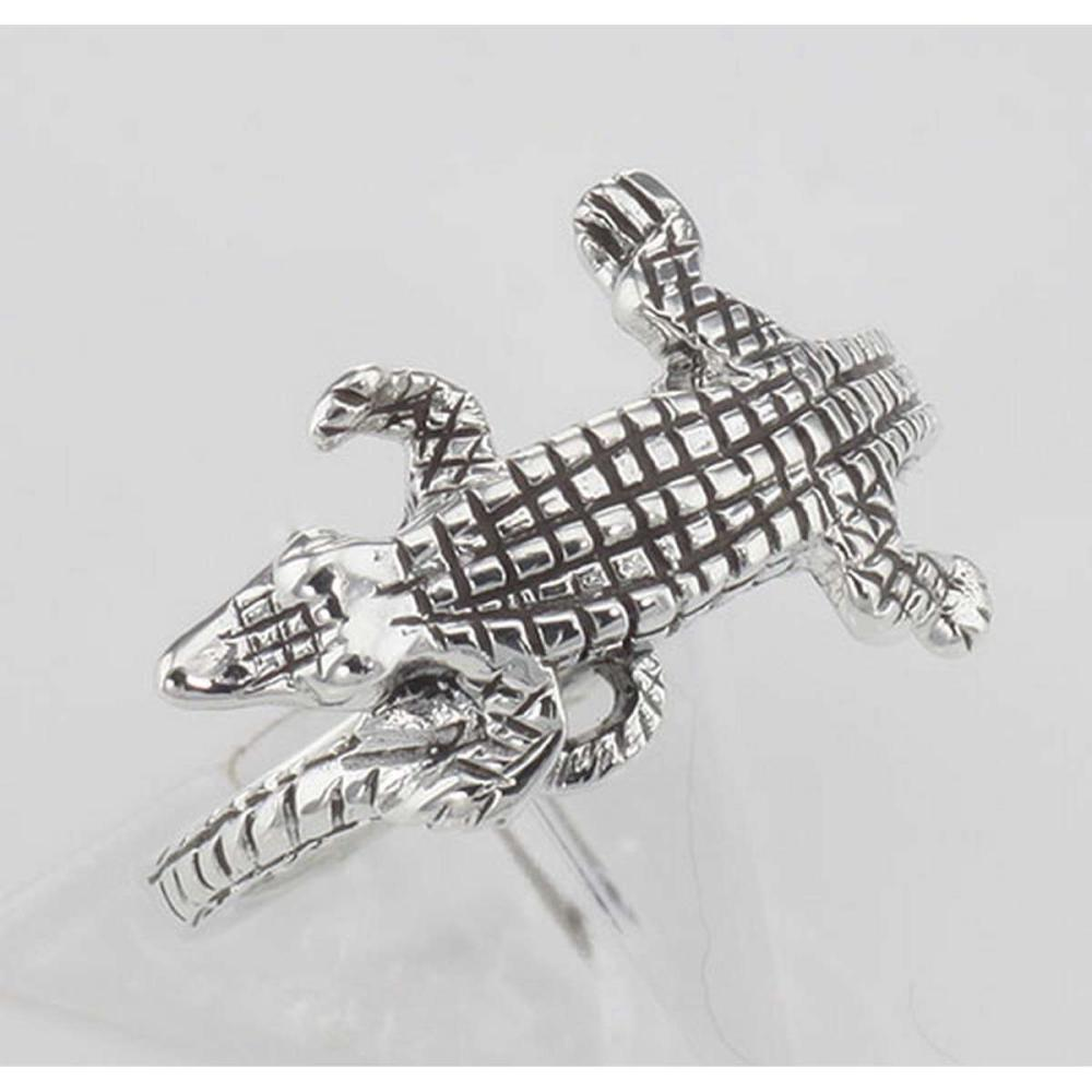 Alligator Ring - Gator Ring - Sterling Silver #PAPPS98027