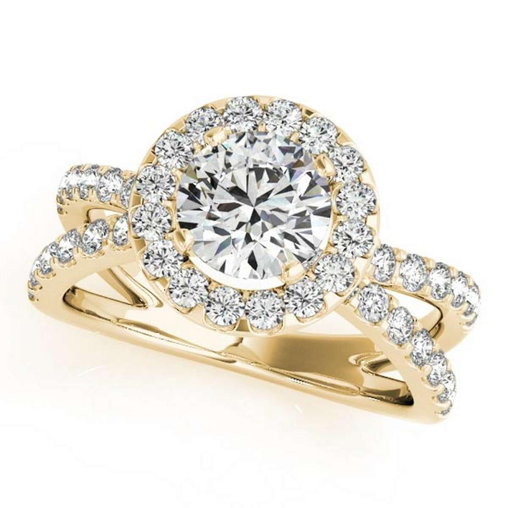 CERTIFIED 18K YELLOW GOLD 1.38 CT G-H/VS-SI1 DIAMOND HALO ENGAGEMENT RING #PAPPS86440