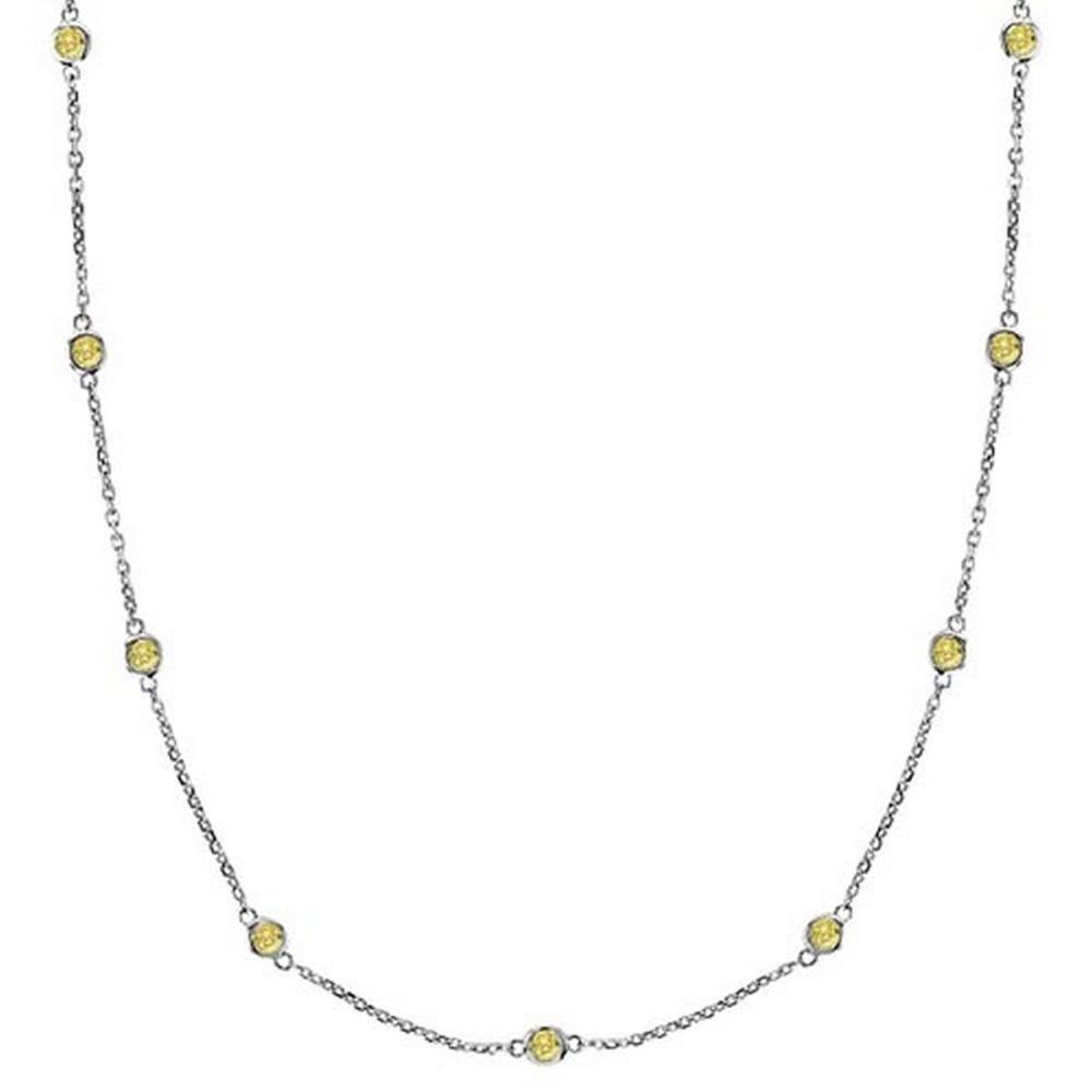 Fancy Yellow Canary Diamonds by The Yard Necklace 14k White Gold (2.00ct) #PAPPS52936