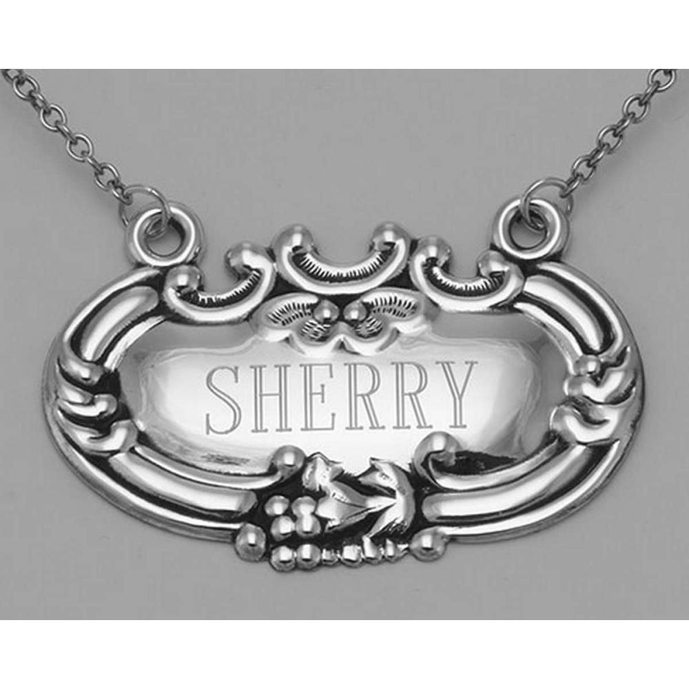 Sherry Liquor Decanter Label / Tag - Sterling Silver #PAPPS98000