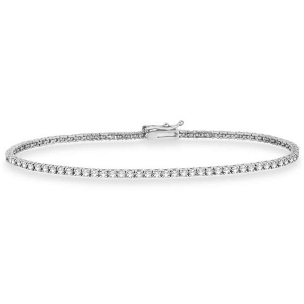 Eternity Diamond Tennis Bracelet 14k White Gold (2.10ct) #PAPPS20578
