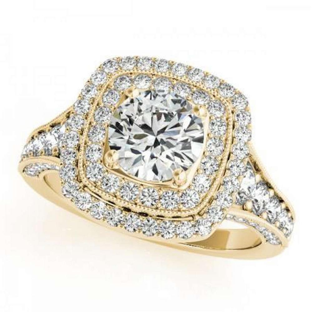 CERTIFIED 18K YELLOW GOLD 1.53 CT G-H/VS-SI1 DIAMOND HALO ENGAGEMENT RING #PAPPS86423